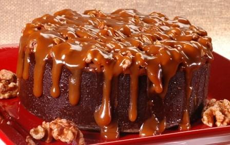 Walnut Caramel Fudge Cake