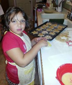 My GG Kenzie helping in the kitchen